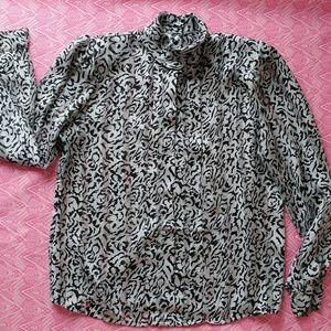 Size 12 Zebra Print Blouse